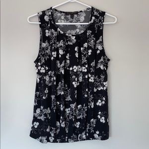 Banana Republic Floral Tank Blouse